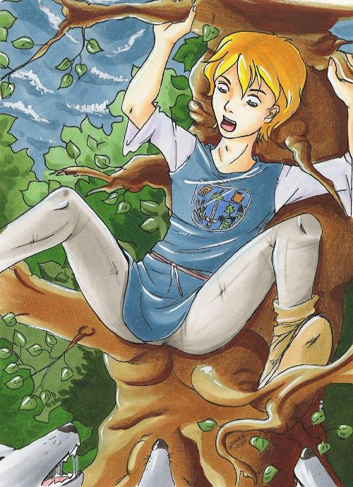 Dimitrijs Flucht in den Baum